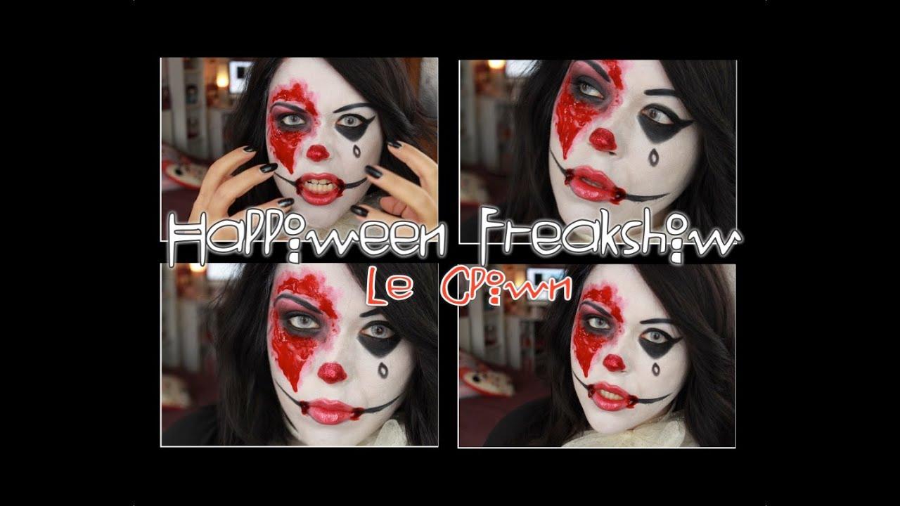Makeup Halloween facile (no latex)  Clown Diabolique  sc 1 st  YouTube & Makeup Halloween facile (no latex) : Clown Diabolique - YouTube