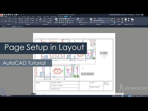 AutoCAD Page Setup In Layout Or Paper Space