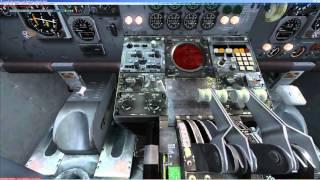 FSX | Captain Sim | Boeing 707 | cold&dark | multi crew experience | CIVA Flight | KIAH - KLAX