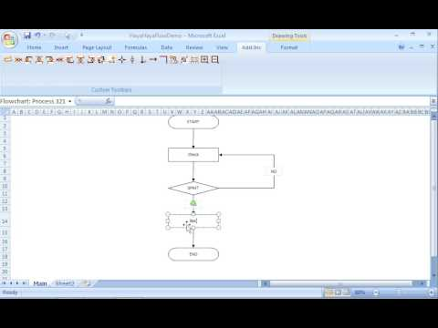 How to create a flowchart quickly in Excel - YouTube - creating a flowchart in excel