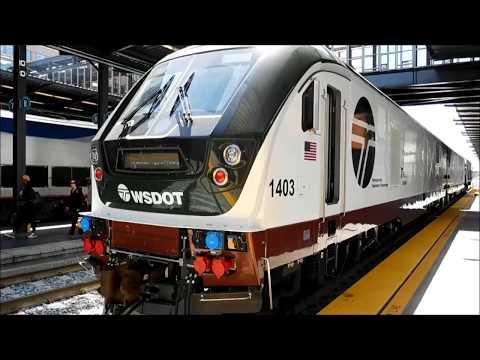Amtrak Cascades WSDOT Siemens Charger (SC-44) Rollout