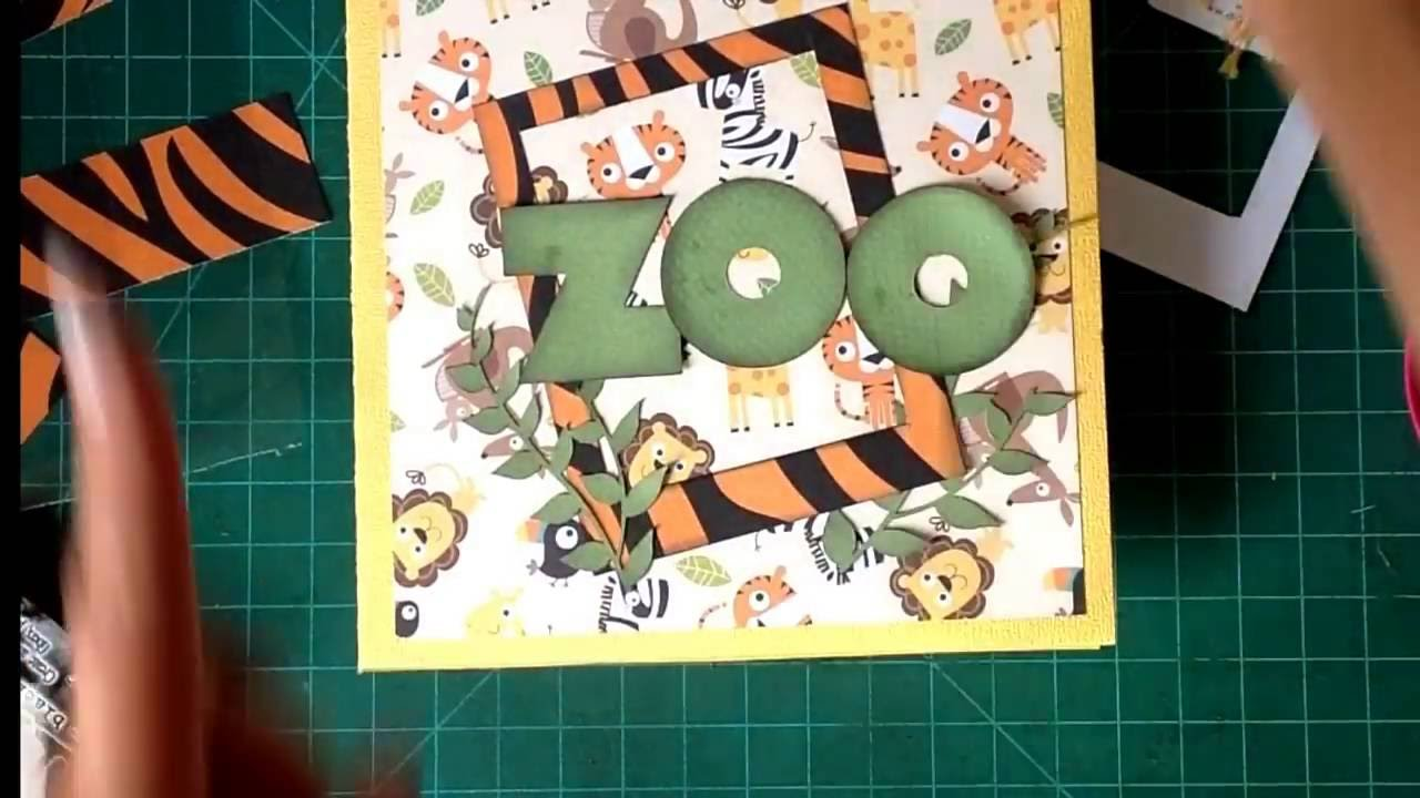 Mini Álbum Zoo (3er. aniversario Scraptools)