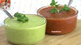 RECETA de SALSA VERDE y RECETA de SALSA ROJA (Salsa Recipe)  Recetas en Casayfamiliatv