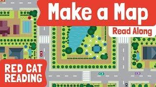 كيفية جعل خريطة | الجغرافيا للأطفال | أدلى القط الأحمر القراءة