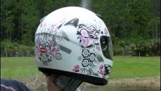 HCI 75 Full Face Motorcycle Helmet Pink Dragon Breath