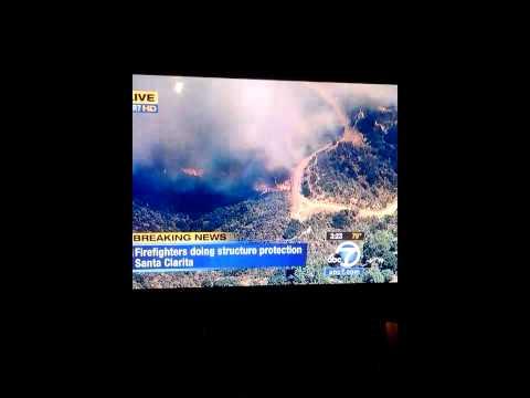 Incendio en santa clarita california