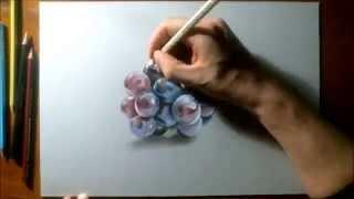 كيفية رسم العنب بطريقة ثلاثية الأبعاد ..للفنان الإيطالي مارسيلو..