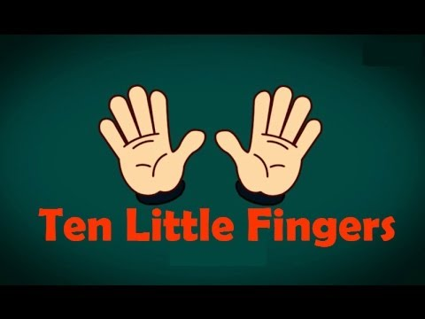 Ten Little Fingers  Animated Nursery Rhymes & Songs With Lyrics For Kids