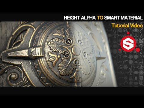 Height alphas to Smart materials in Substance painter
