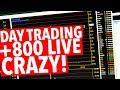 DAY TRADING REAL TIME! EMOTION! CRAZY RIDE!