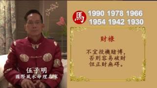 伍子明師傅2017丁酉火雞年生肖運程-肖馬