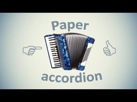 Paper accordion. DIY