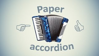 Paper accordion. DIY