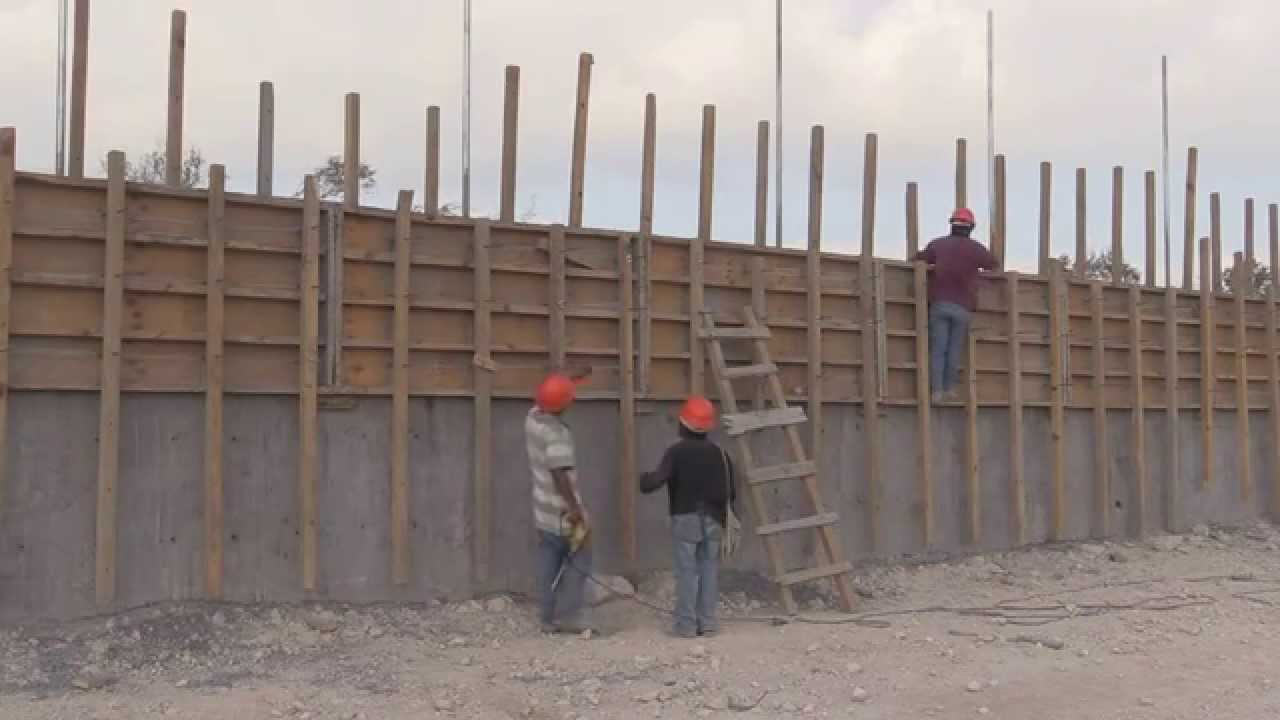 cimbrado muro de contencin libramiento reynosa sur ii