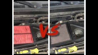 k air filter vs stock paper filter