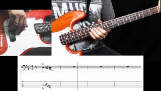 Dan Hartman - Relight My Fire (Bass Cover with Tabs in Video)