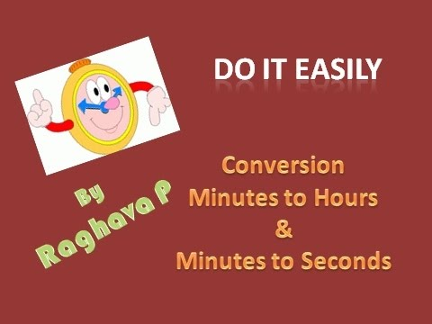 how to change from seconds to minutes