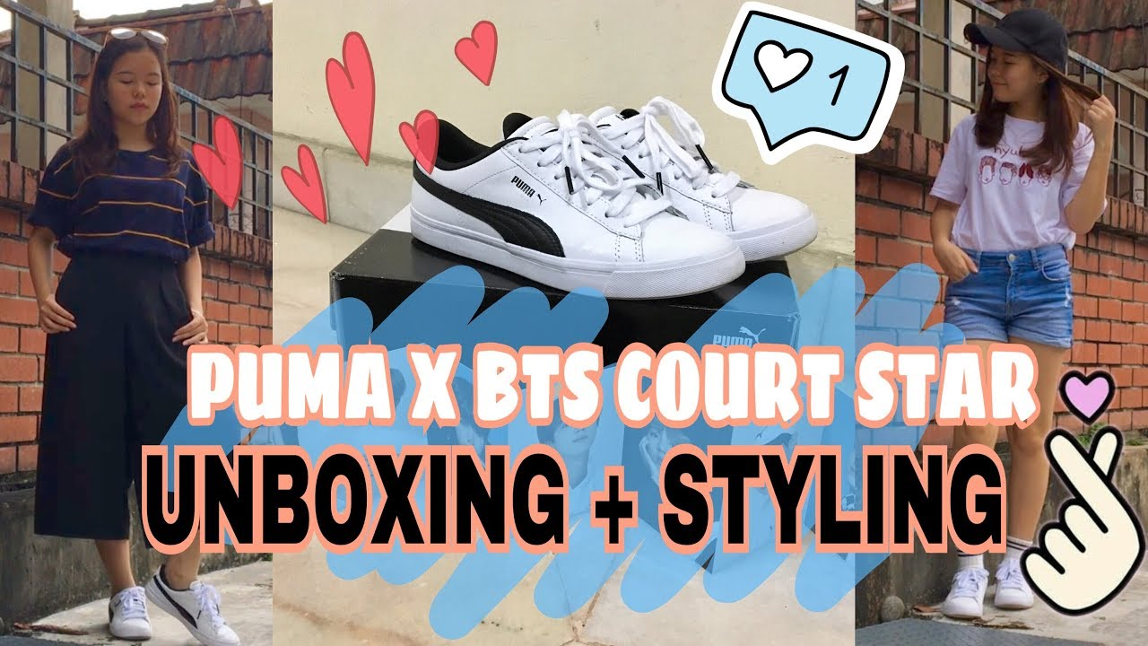 PUMA X BTS Court Star | Unboxing + Styling // BrendaHope