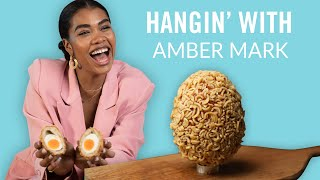 Amber Mark Tries Delicious Ramen Scotch Eggs | Hangin' With