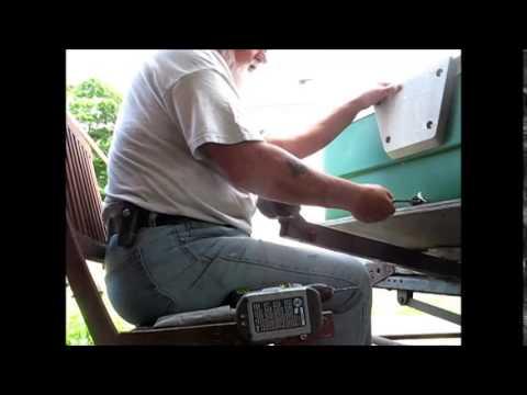 Installing A Drain Plug In A Coleman Crawdad Boat 2 Youtube
