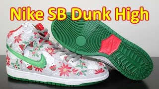 "Nike SB X CNCPTS Dunk High ""Ugly Christmas Sweater"" - Review + On Feet"