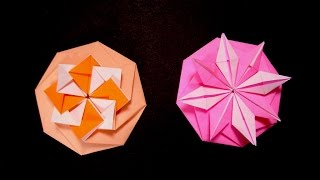 Origami Octagon Flower  - Octagon Envelope. Tarjeta Compleja. Easter Ideas