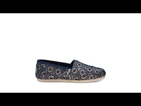 Toms Classic Crochet Glitter Slip Onwomens Youtube