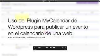 Tutorial My Calendar para publicar Calendario de Eventos en una web