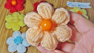 Crochet Small Flower with Puff Stitch