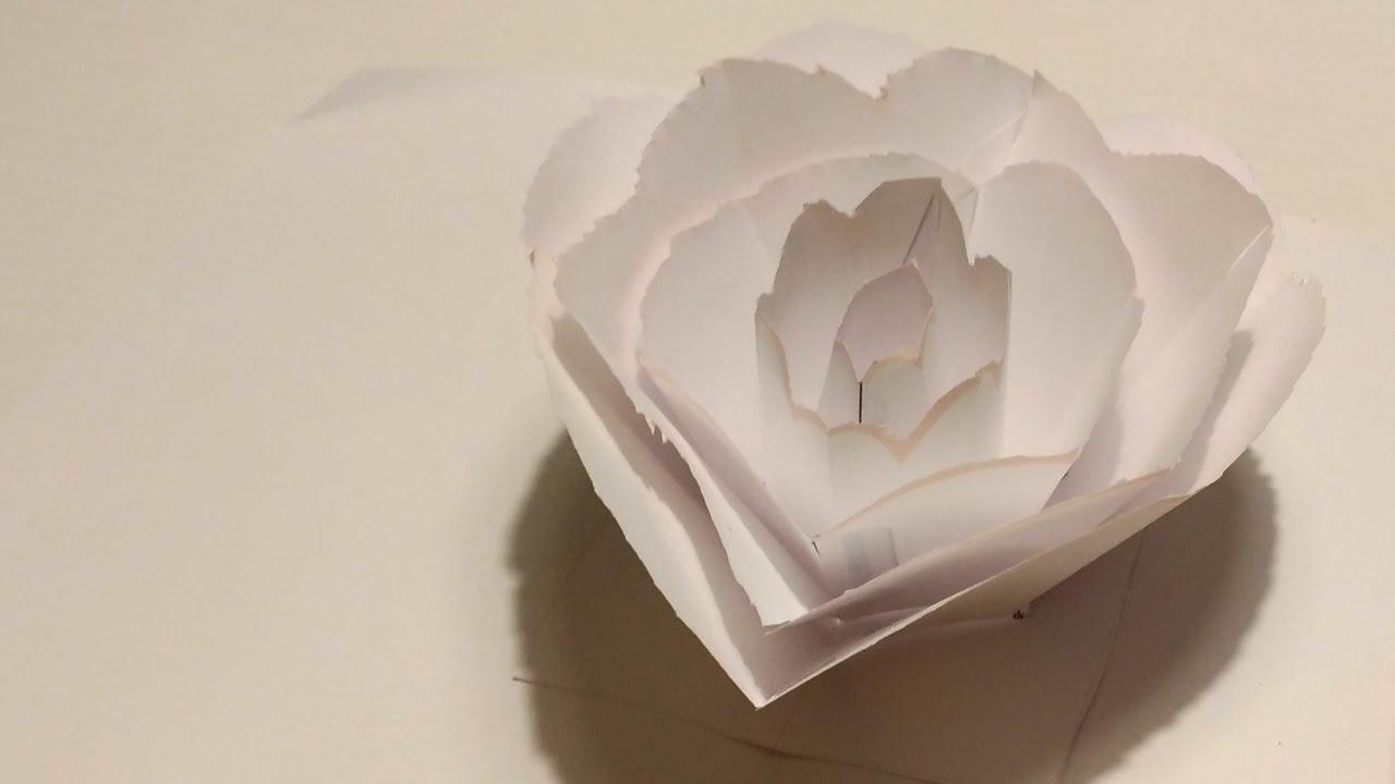 Rose Pop Up Card Tutorial Template