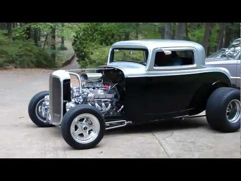 NASTY BAD ASS 3-WINDOW 32 FORD HOT ROD 454 CHEVY * CRUISING THE STREET