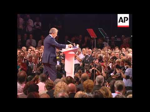 Blair addresses Labour for last time as leader