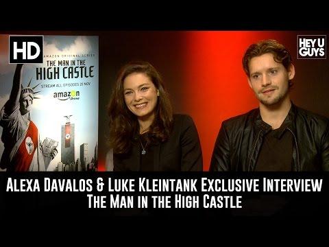 Alexa Davalos & Luke Kleintank Exclusive Interview - The Man In The High Castle (Amazon)