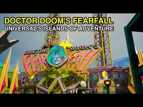 [4K] Doctor Doom's Fearfall - Towering Heights : Universal's Islands of Adventure (Orlando, FL)