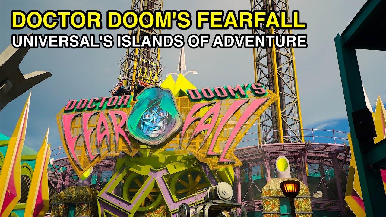 [4K] Doctor Doom's Fearfall - Towering Heights : Universal ...
