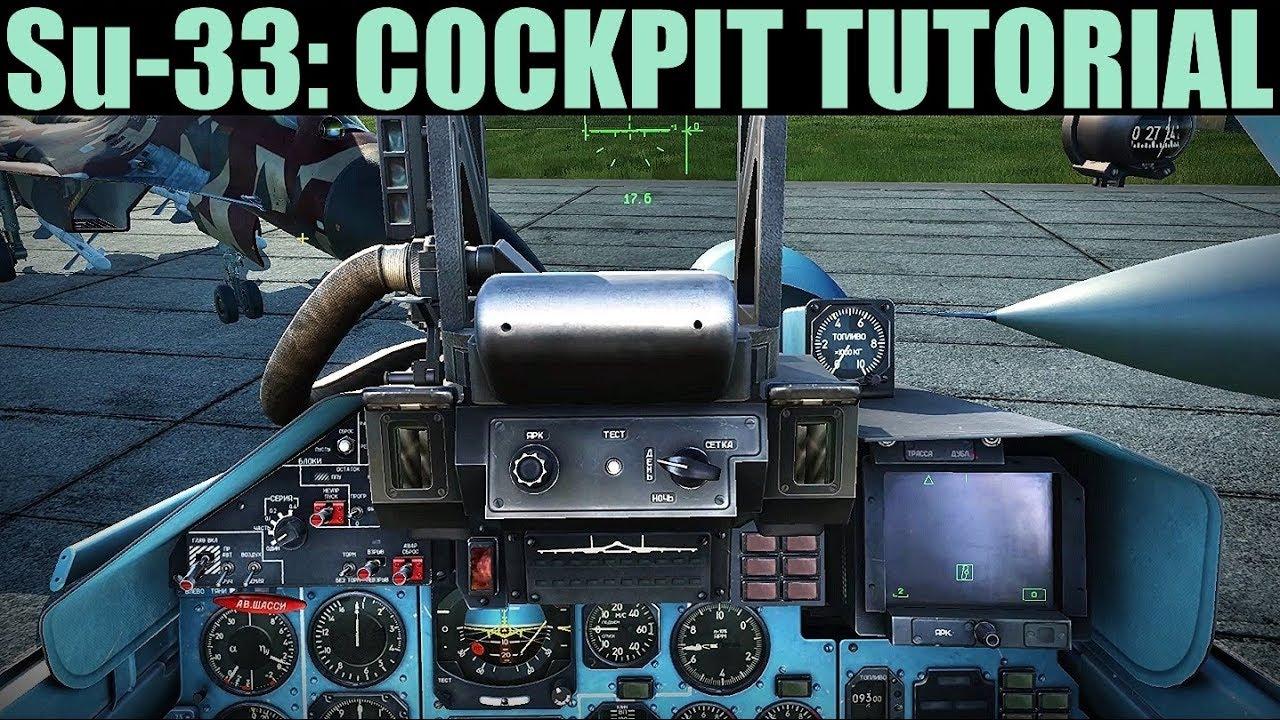 Su-33: Cockpit Tour Tutorial   DCS WORLD
