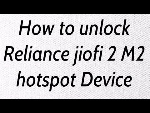 How to Unlock Reliance jiofi Device || jiofi 2 M2 Hotspot Device