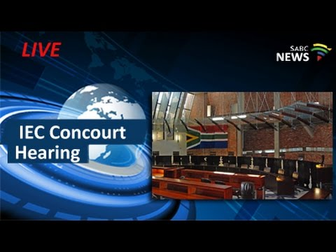 IEC ConCourt Hearing, 09 May 2016