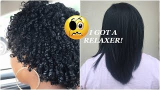 Natural to Relaxed Hair Vlog: 6 Years Natural 🙈