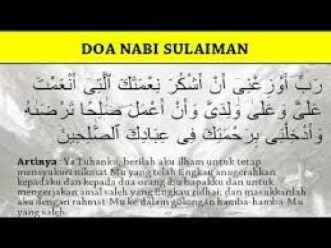 Full Download] Doa Wirid Nabi Sulaiman Yang Kaya Raya