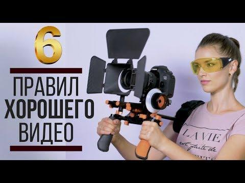 6 важных правил при съемке видео