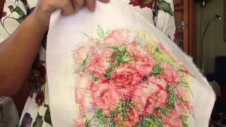 Акварельные розы    отшиты все крестики