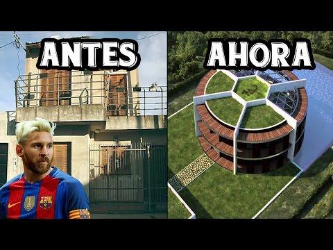 Top 5 Casas De Futbolistas Antes y Ahora | ft. Messi, Neymar, Ronaldo...