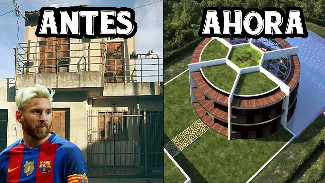 Top 5 casas de futbolistas antes y ahora ft messi - Fotos de la casa de cristiano ronaldo ...