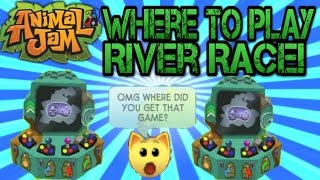 Animal Jam- Where to play River Race!