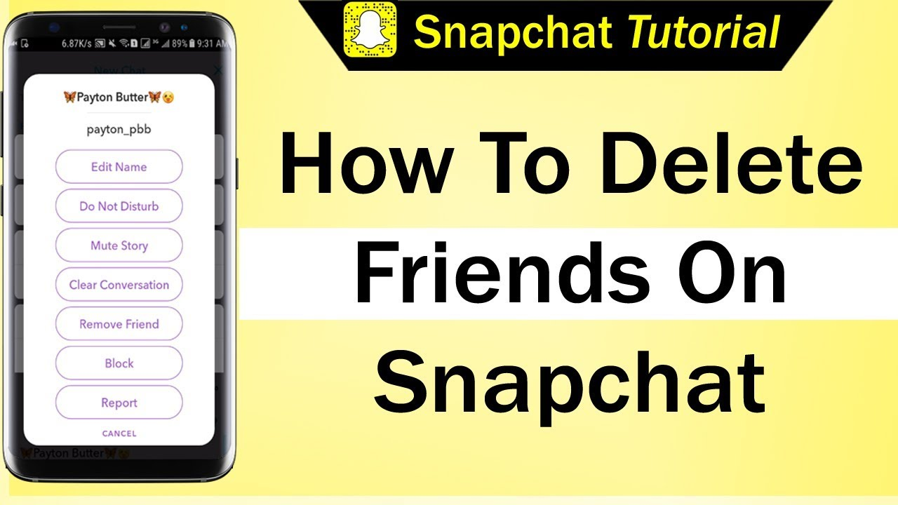 How To Delete Friends On Snapchat