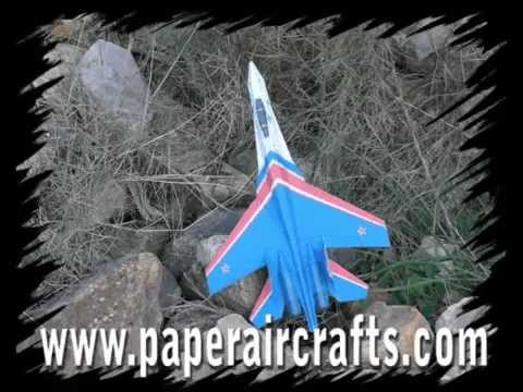 Papercraft Su-27 Paper Airplane 3D model