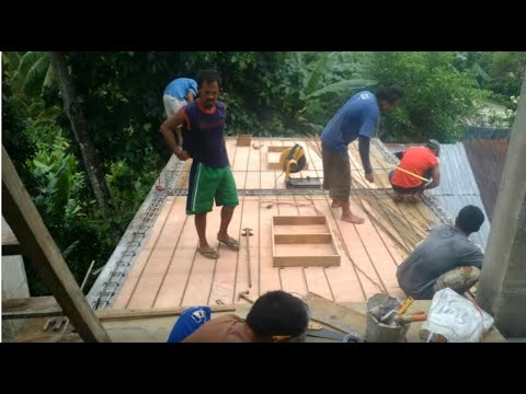 Building a house in Southern Leyte Philippines part 19. Kitchen & Staircase roof construction