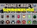 Minecraft ULTIMATE SUPERHEROES MOD! | JUSTICE LEAGUE VS THE AVENGERS! | Modded Mini-Game