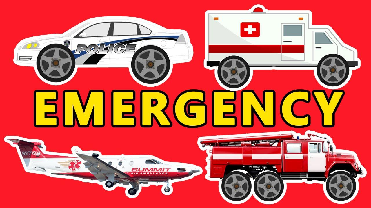 learn transport sounds emergency fire truck police car